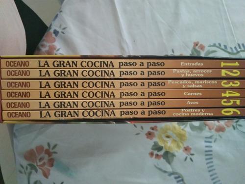 enciclopedia de cocina,6 libros a todo color(12v)