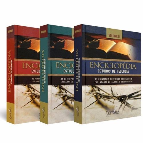 enciclopédia de estudo de teologia - 3 volumes