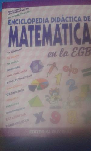 enciclopedia didáctica de matemática en la egb.