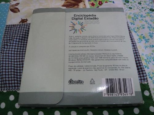 enciclopédia digital estadão 2005 - 6 cds