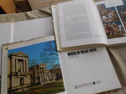 enciclopédia dos museus munique londres boston 3 livros