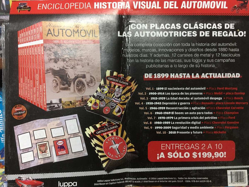 enciclopedia historia visual del automóvil - 10 tomos
