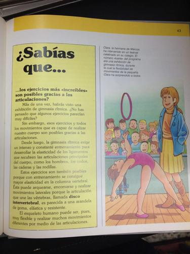enciclopedia juvenil - el cuerpo humano - parramón - 6 tomos