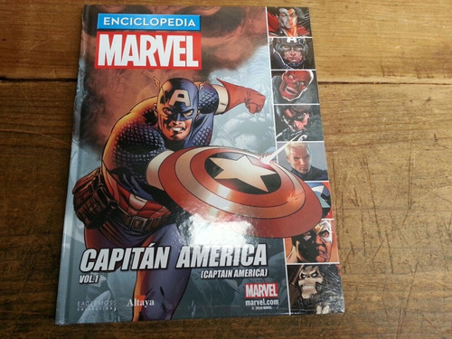 enciclopedia marvel - edición 4 - capitan amercia - marvel