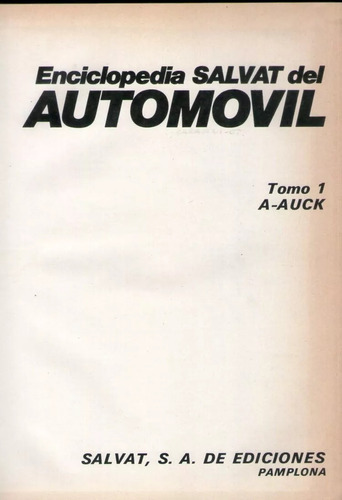 enciclopedia salvat del automovil 4 tomos
