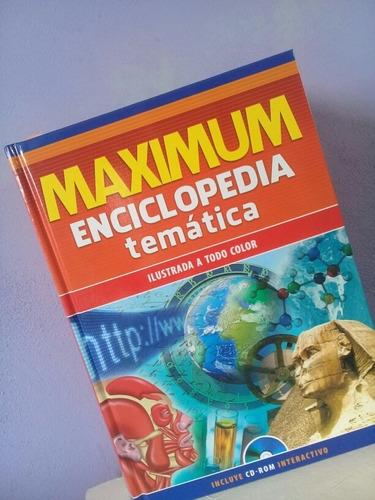 enciclopedia temática  maximum con cd interactivo