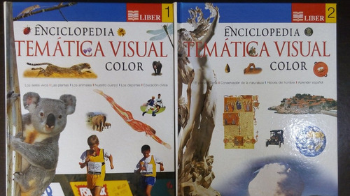 enciclopedia tematica visual color 4 tomos nivel educ media