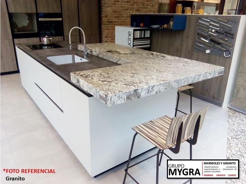 Encimera tablero mesa de granito para cocina cuarzo m rmol for Precio metro lineal encimera granito