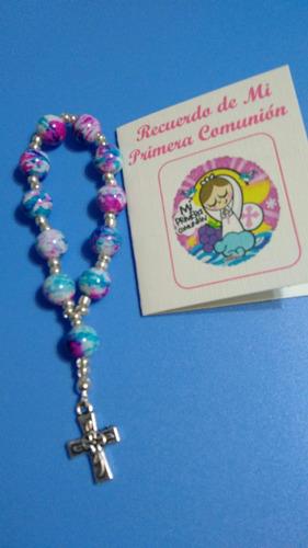 encintados denarios multicolor recuerdos para bautizo x 12