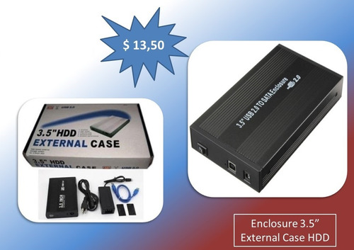 enclosure 3.5  hdd - case externo para disco duro