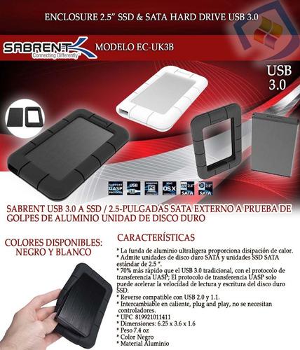 enclosure case externo 2.5 disco duro sata laptop usb 3.0