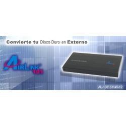 enclosure disco duro airlink aen-u25sab sata-usb 2.0 negro