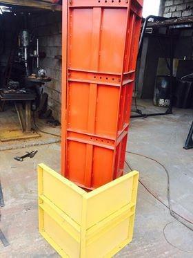 encofrado metálico para columnas, muros y bordillos 3 en 1