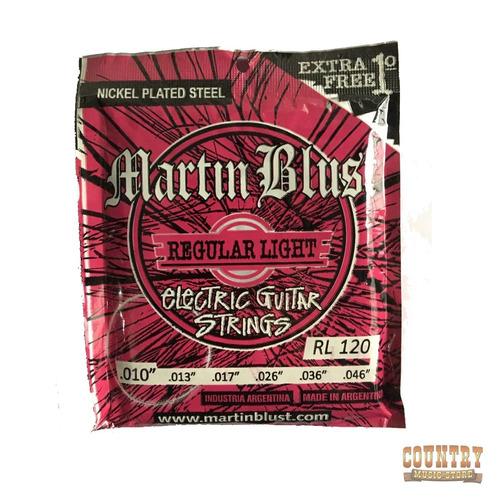 encordado cuerdas martin blust rl 120 guitarra electica 010