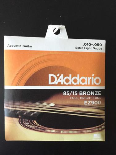 encordado de guitarra acustica ez900 daddario 010