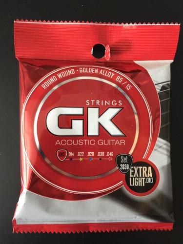 encordado de guitarra acustica gk 010