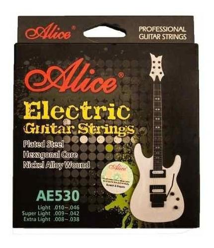 encordado de guitarra eléctrica alice 09 super light