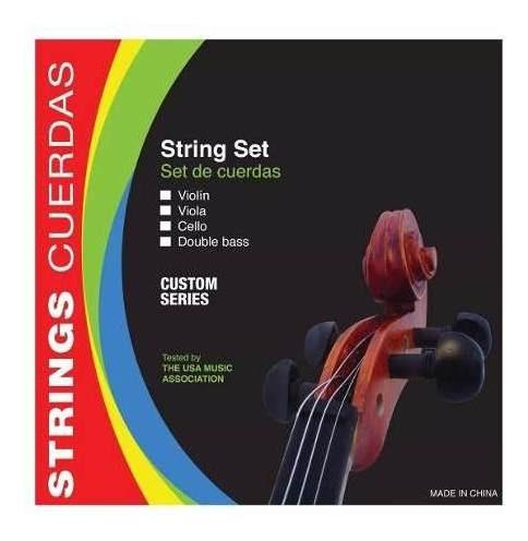 encordado de violin 4/4 parquer custom de acero estudio