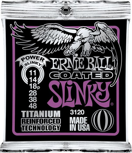 encordado ernie ball 3120 guitarra electrica titanium