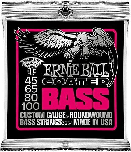 encordado ernie ball 3834 coated bajo 4 cuerdas