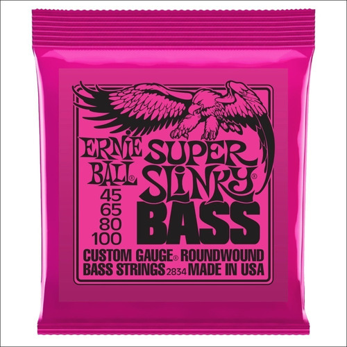 encordado ernie ball superslinky bass 045 100 bajo eléctrico