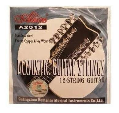 encordado guitarra acústica alice 12 cuerdas inoxidable