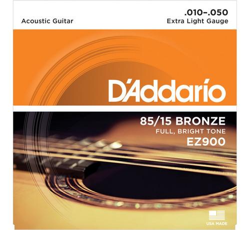 encordado guitarra acustica daddario ez900 10/50 bronze85/15