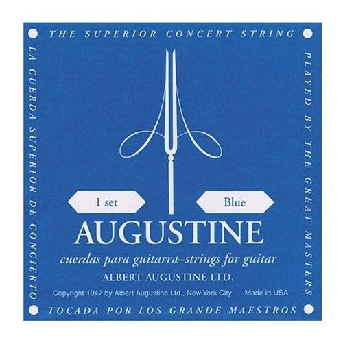 encordado guitarra clasica augustine empaque azul hibridas