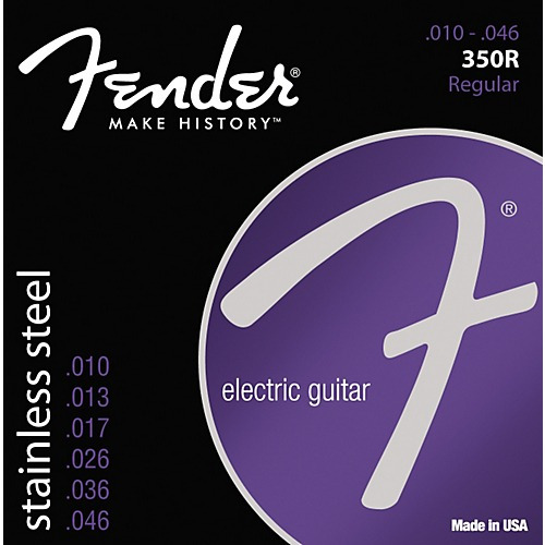 encordado guitarra electrica fender 350r 10/46 acero