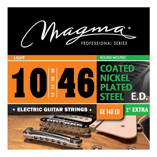 encordado guitarra electrica magma ge140ed 010/046 coated