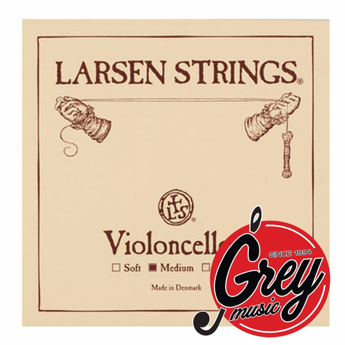 encordado larsen medium de cello 4/4 - grey music