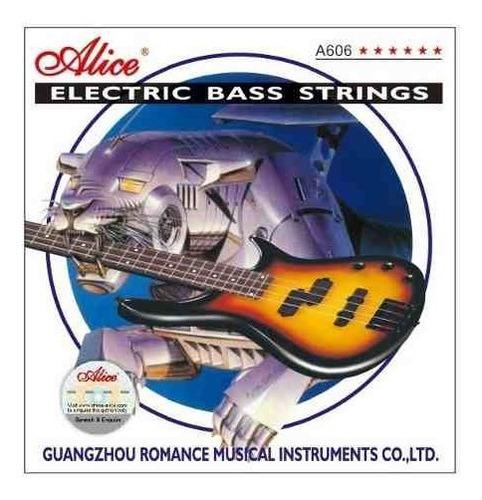 encordado p/ bajo electrico 5 cuerdas medium 045 alice