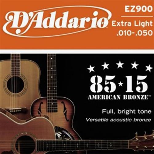 encordado para guitarra acustica d''addario ez900 10 / 50