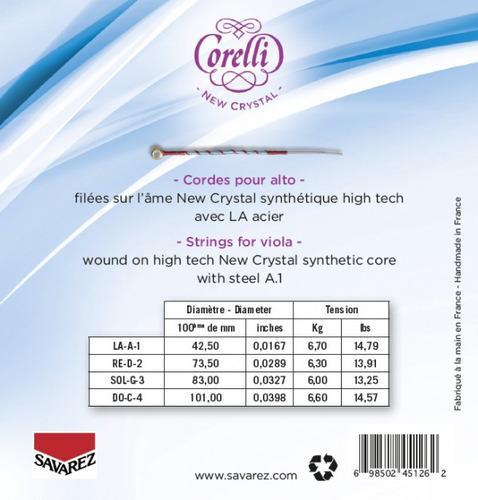 encordado savarez corelli 730mb new cristal medium viola