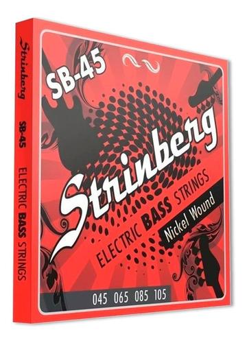 encordoamento 0.45 contra baixo strinberg 4 cordas sb-45