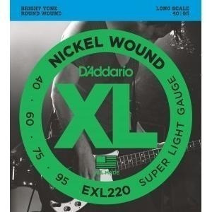 encordoamento baixo 4c d'addario exl220 super light 40-95
