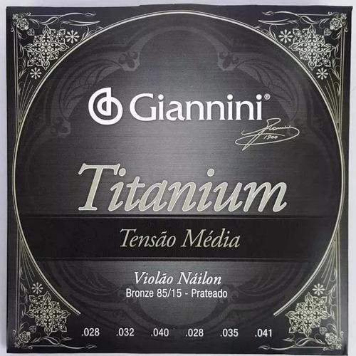 encordoamento cordas violão nylon média titanium giannini