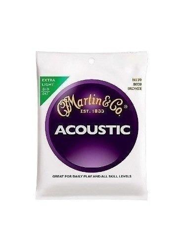 encordoamento de aço para violão martin m170  0.10 / 0.47
