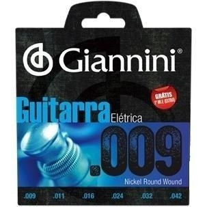 encordoamento guitarra 009 giannini