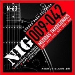 encordoamento guitarra 009 nig n-63 tradicional