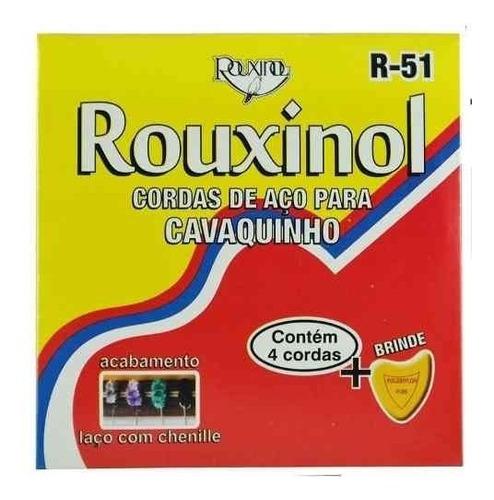 encordoamento inox para cavaquinho c/laço chenilha -rouxinol