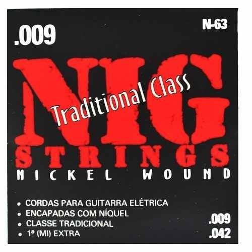 encordoamento para guitarra classe - 40563 nig strings