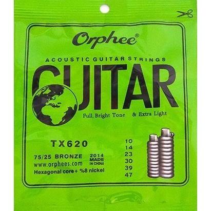 encordoamento violão aço 010 orphee tx620
