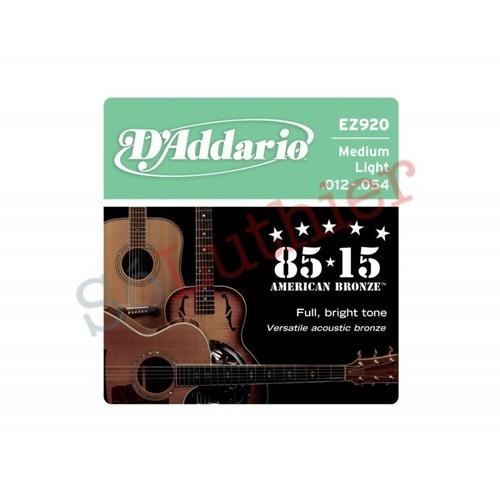 encordoamento violão aço d'addario ez920 .012-.054