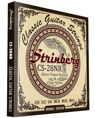 encordoamento violão nylon tensão normal strinberg cs28nr