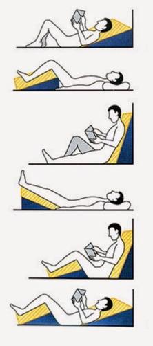 encosto cama espuma triângular amamentação leitura refluxo