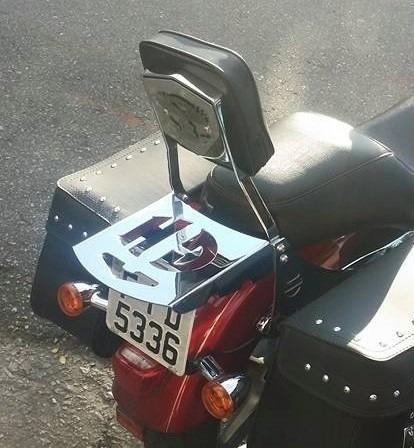 encosto traseiro destacável harley  sportster 883 - xl1200