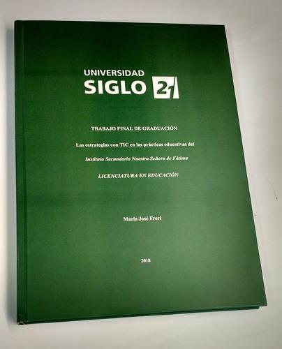 encuadernación e impresión de tesis