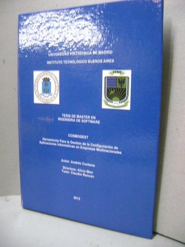 encuadernacion libros digitalización de archivos  tesis impr