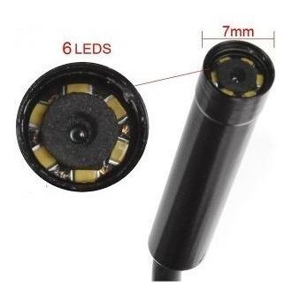 endoscópio várias aplicações usb (7mm, 6 leds,10 metros)